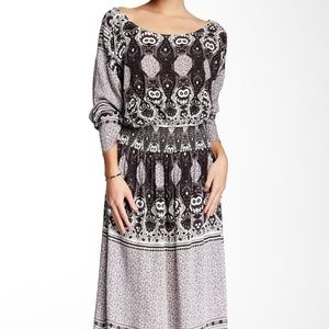 FREE PEOPLE SHE'S A LADY REVERSIBLE MIDI DRESS XS